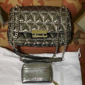 2pc Michael Kors purse and wallet